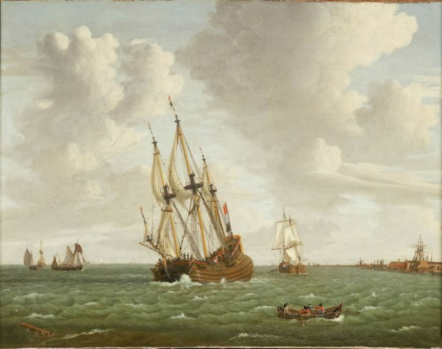 A Dutch Whaler Close Hauled in a Breeze