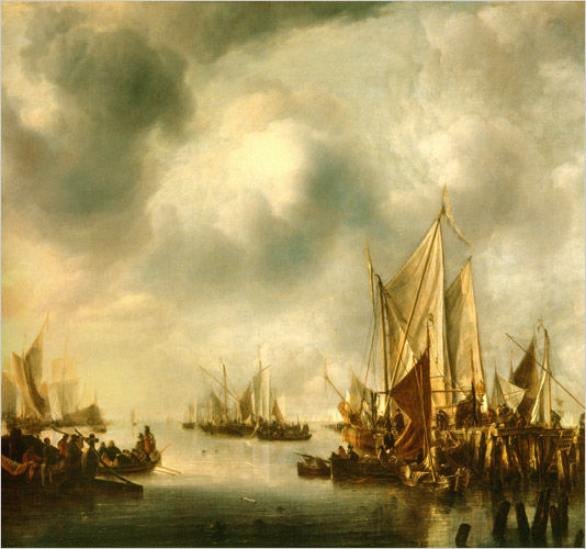 Ships and a Gallery Wrecked on a Rocky Coast