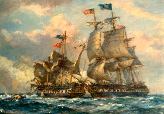 An Engagement between British and American Ships