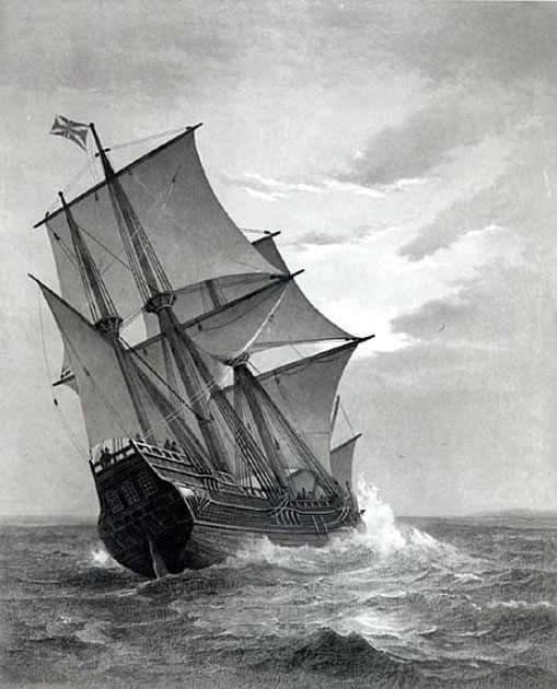 The Mayflower; engraved by and pub