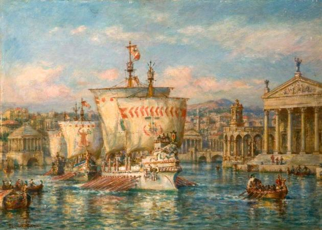 Roman Argosies Sailing from a Grecian Port.