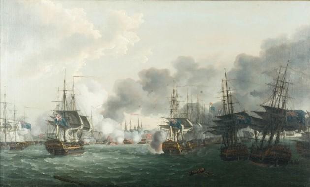 The Battle of Copenhagen 2 April 1801.