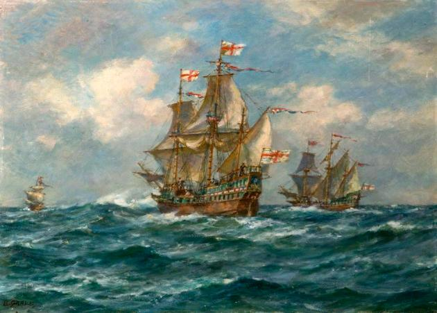 The 'Golden Hind' Sails Another Great Enterprise, 13 December 1577