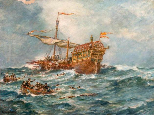 The Wreck of a Spanish Treasure Ship.