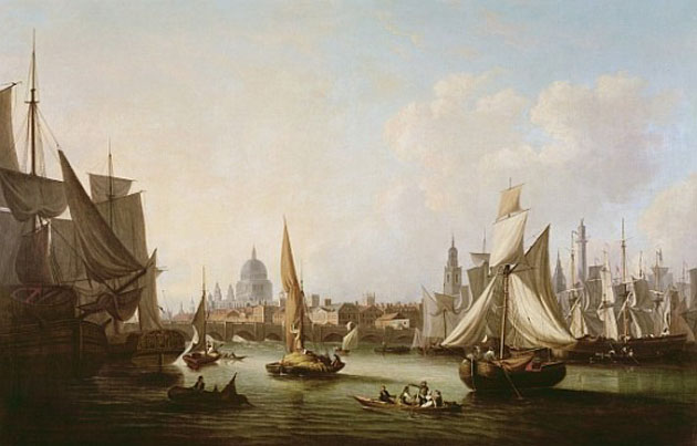 View of the River Thames.