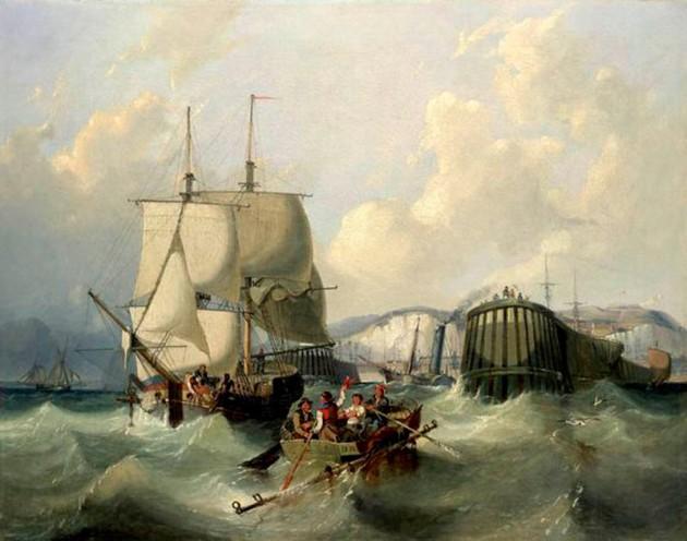 A Brig Leaving Dover.
