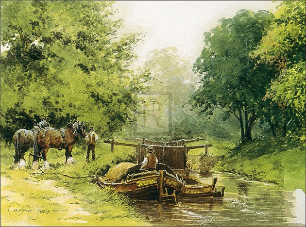 Barge Horses.