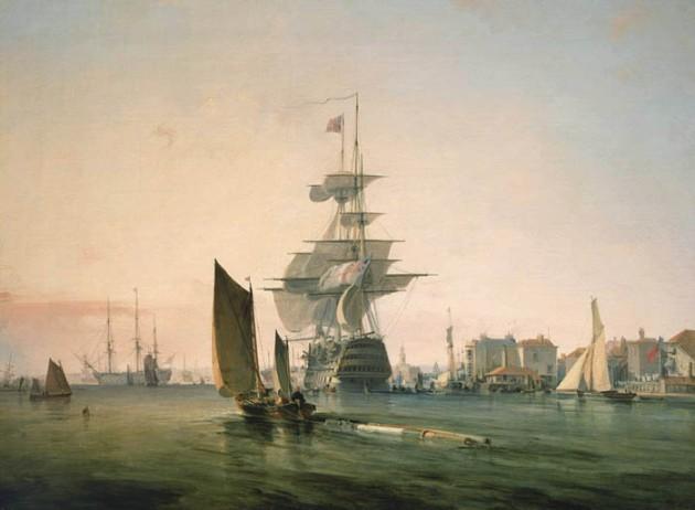 Britannia Entering Portsmouth.