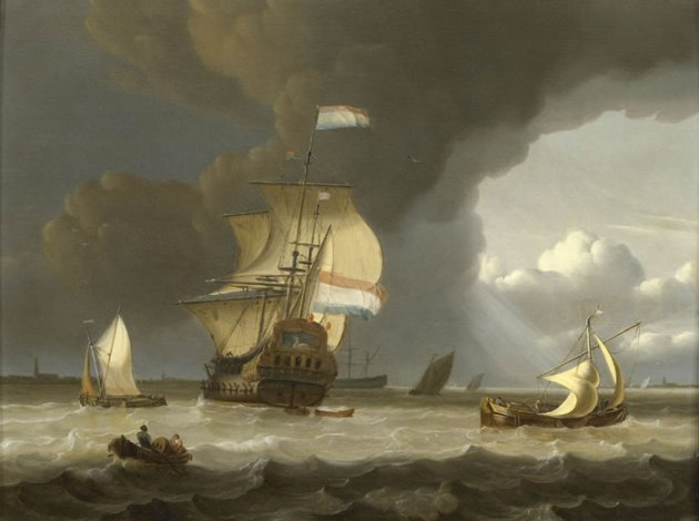 Dutch Ships in the Mouth of the Scheldt.