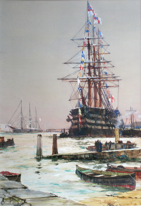 H.M.S. St. Vincent at Portsmouth, 1899.