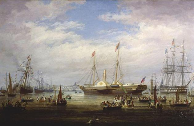 Queen Victoria's arrival in Cork Harbour, 3 August 1849