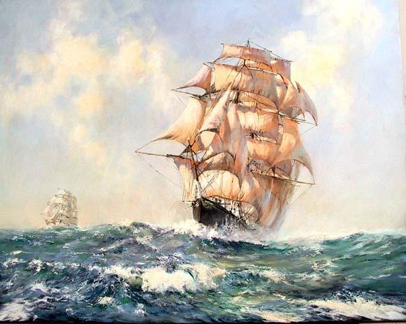 The Cutty Sark at Sea.
