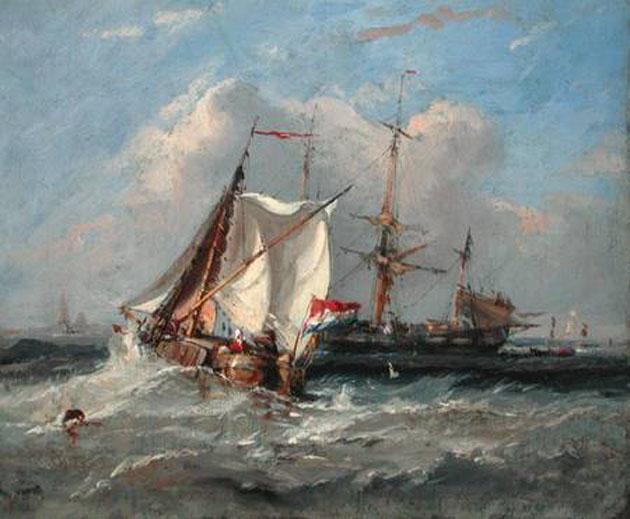 A Dutch Smalschip in a Strong Breeze-