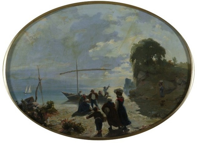 The Shore of the Leman Lake with Figures.