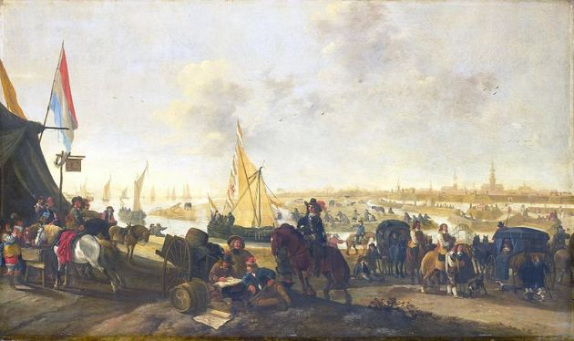 The siege and capture of Hulst in 1645.