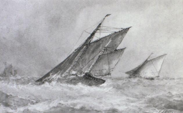 Fishing travelers offshore