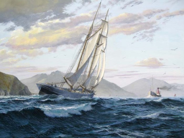 Inter island trade, the schooner Mary Stewart