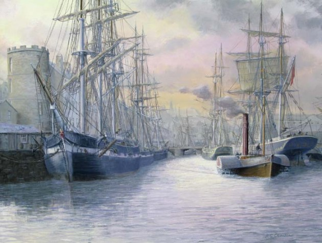 Leith Docks (Edinburgh) circa 1860.