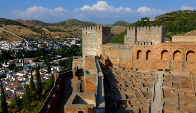 Alhambra Granada.Palacios Nazaries.Spain