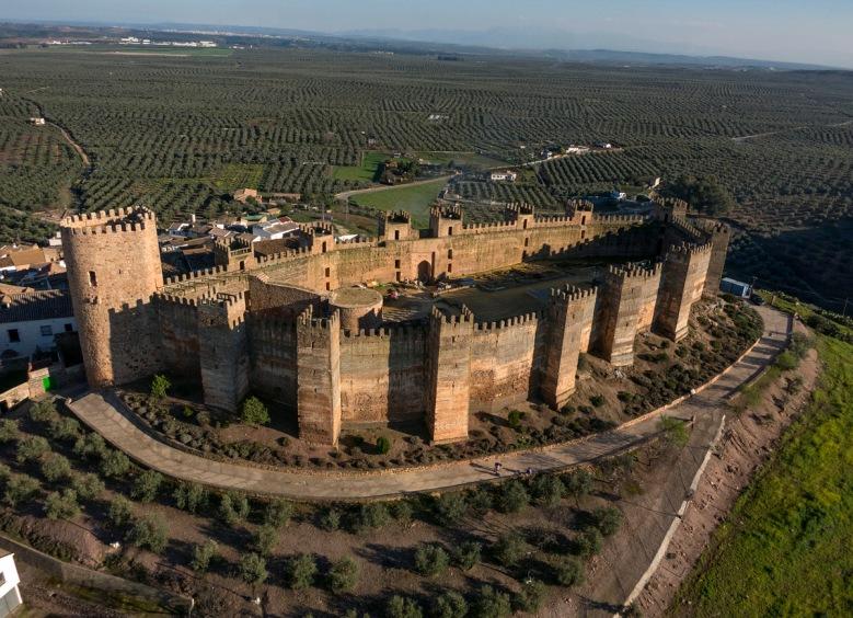 Castillo de Burgalimar .Baños de la Encina. Jaén.