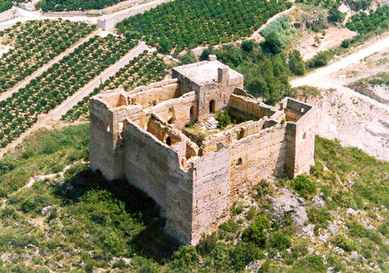 Castillo de Forna. Adsubia. Alicante