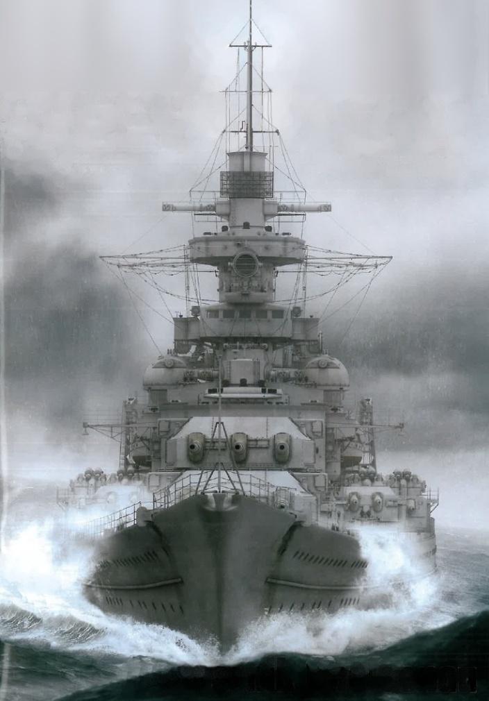 Acorazado alemán Gneisenau, también descrito como un crucero de batalla.